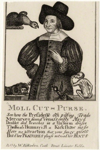 NPG D28535; Mary Frith ('Moll Cutpurse') after Unknown artist, published by  William Richardson
